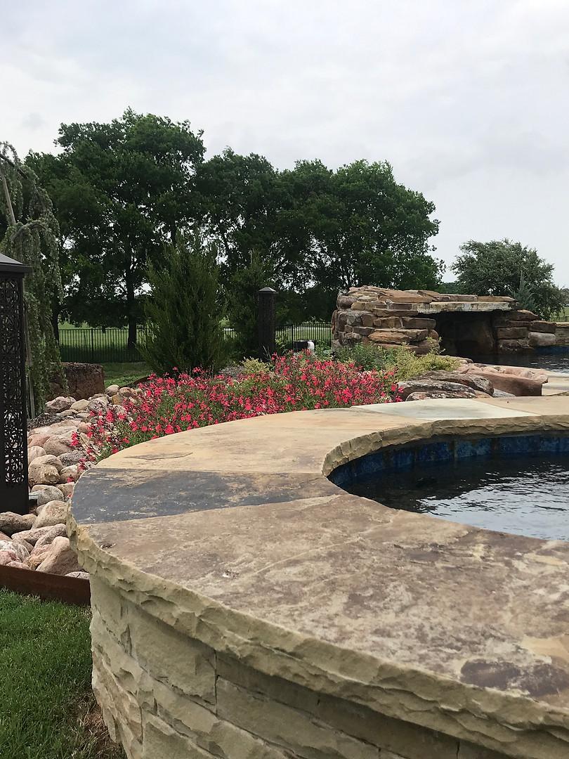 Pool Landscape Texas.JPG