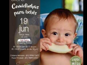 Oficina Comidinhas para Bebês