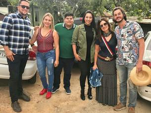 Serra Negra recebe a visita de Túlio Gadelha e Fátima Bernardes