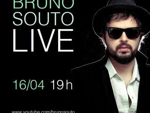 Live com Bruno Souto hoje pelo YouTube