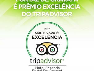Hotel Portal de Gravatá recebe prêmio em Excelência