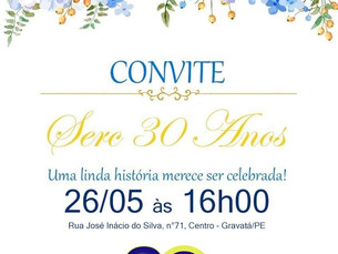 SERC Gravatá 30 anos, uma linda história que merece ser celebrada!