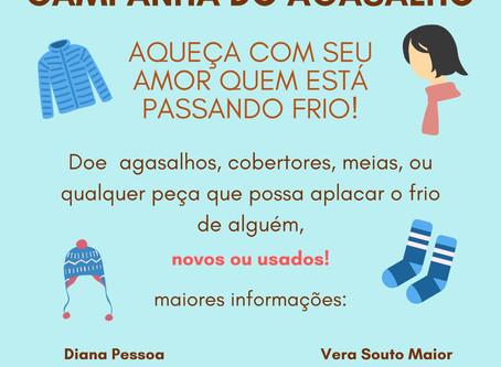 Aqueça o seu coração Aquecendo alguém que está com frio, por Diana Pessoa