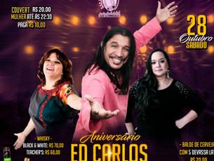 Ed Carlos comemora aniversário na Sala de Reboco