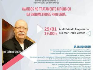 Dr. Cláudio Crispi ministra palestra a convite do CEHP Centro de Endometriose e Histeroscopia de Per
