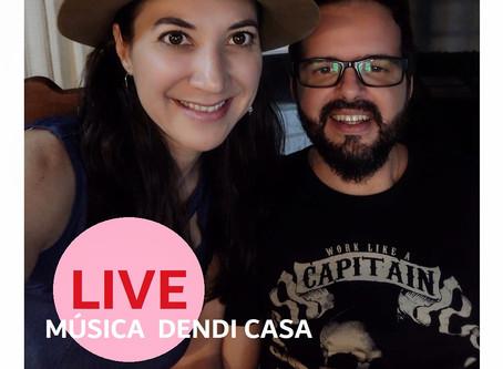 Música Dendi Casa com Aline Piol e Bruno Souto