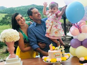 Júlia Beltrão comemora seu primeiro aniversário