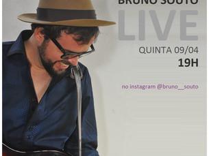 Bruno Souto presenteia seu público com live, hoje (09) pelo Instagran