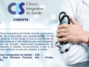 CIS - Clínica Integrativa de Saúde inaugura em Gravatá