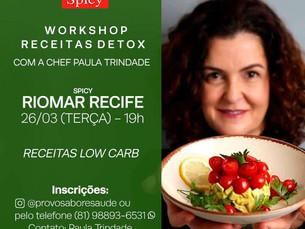 Chef Paula Trindade ministra Workshop Receitas Detox