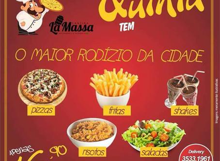 O maior rodízio da cidade é na Cantina La Massa