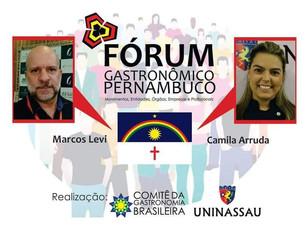 Camila Arruda participa da primeira edição do Fórum Gastronômico - Pernambuco