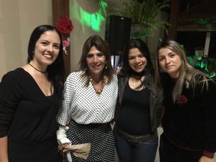 Festejando com a amiga Lucinha Lins