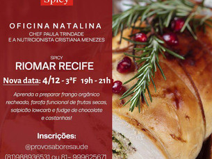 Oficina Natalina Spicy Riomar Recife