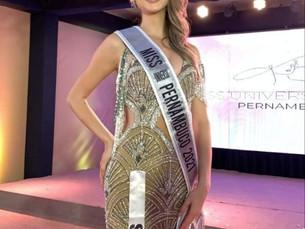 Miss Universo Pernambuco 2021 é da cidade de Sairé