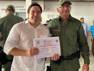"Presidente da ACIGRAN - Chã Grande recebe certificado ""Amigo da 5ª CIPM"""