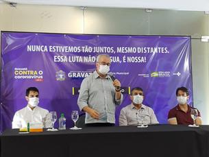 Dia histórico em Gravatá, Secretaria de Saúde recebe vacina contra a Covid-19