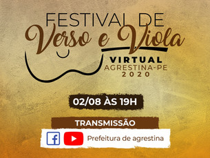 Agrestina realiza 1° Festival Virtual de Verso e Viola