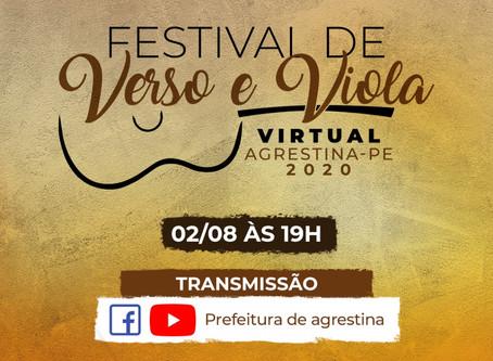 Agrestina realiza 1° Festival Virtual de Verso e Viola