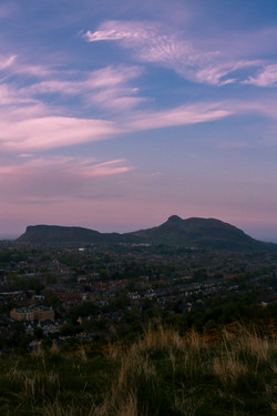 Dusk over Edinburgh