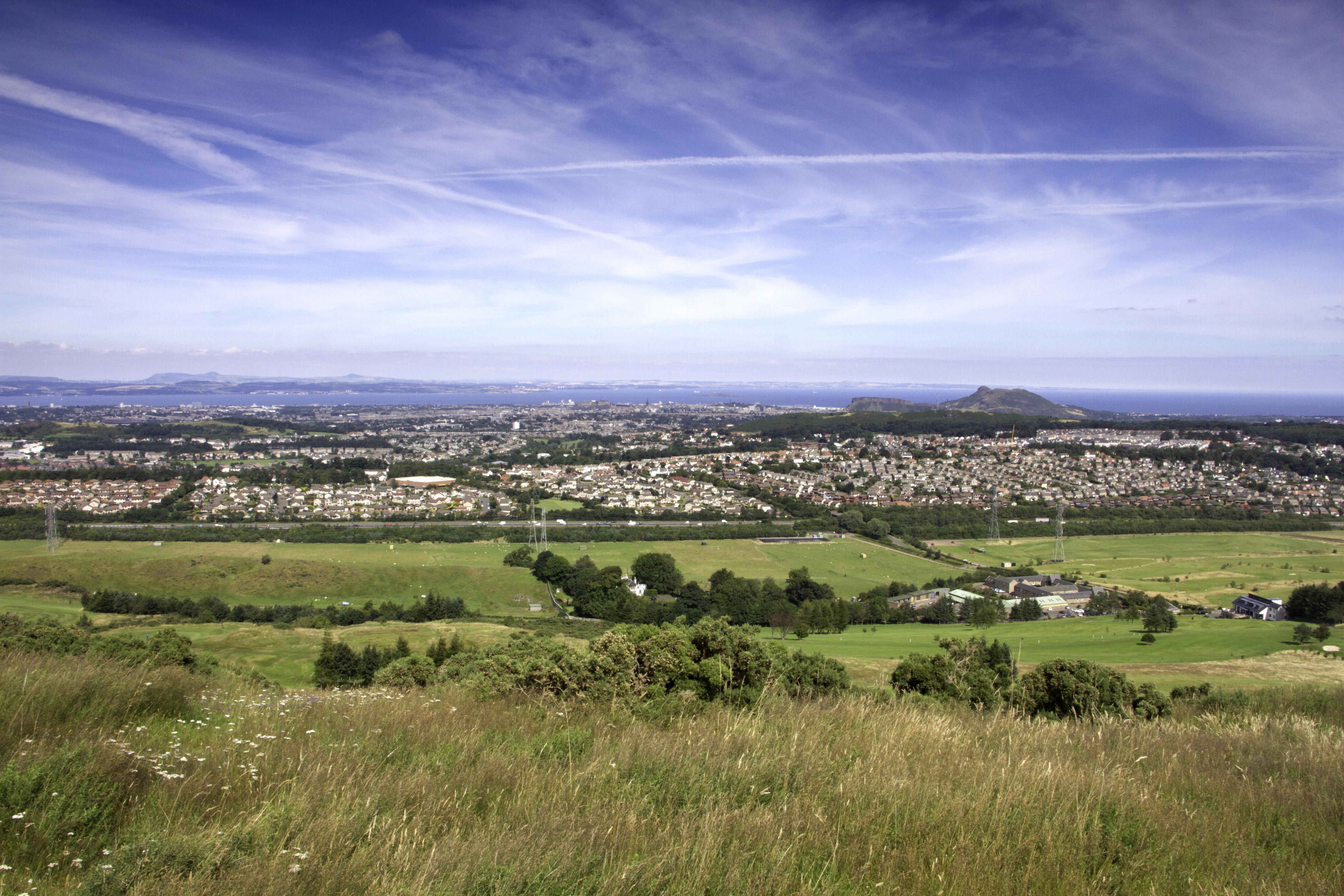 Edinburgh over the Fields