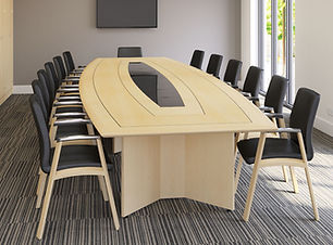 Fulcrum barrel conference table