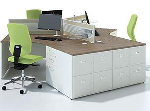 Ambus end of desk storage