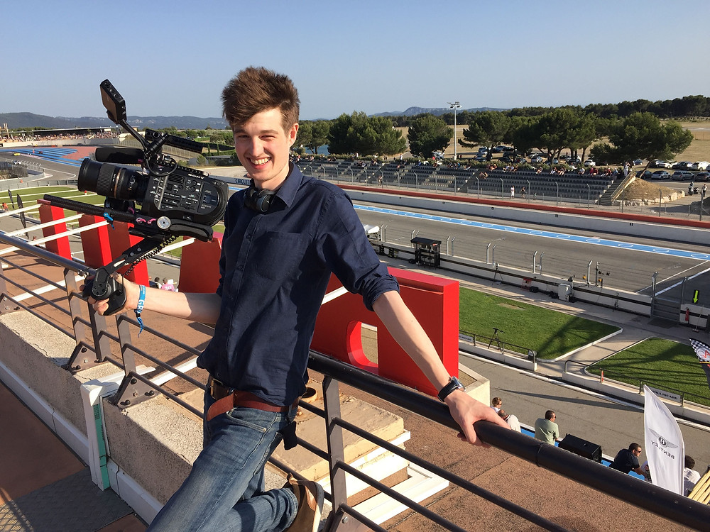 FS7 filming the track