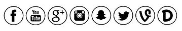 Social media film icons