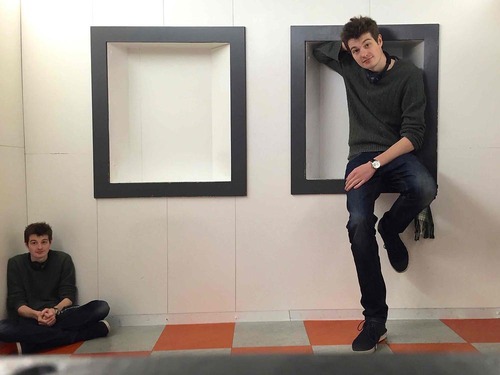 Filmmaker in a museum