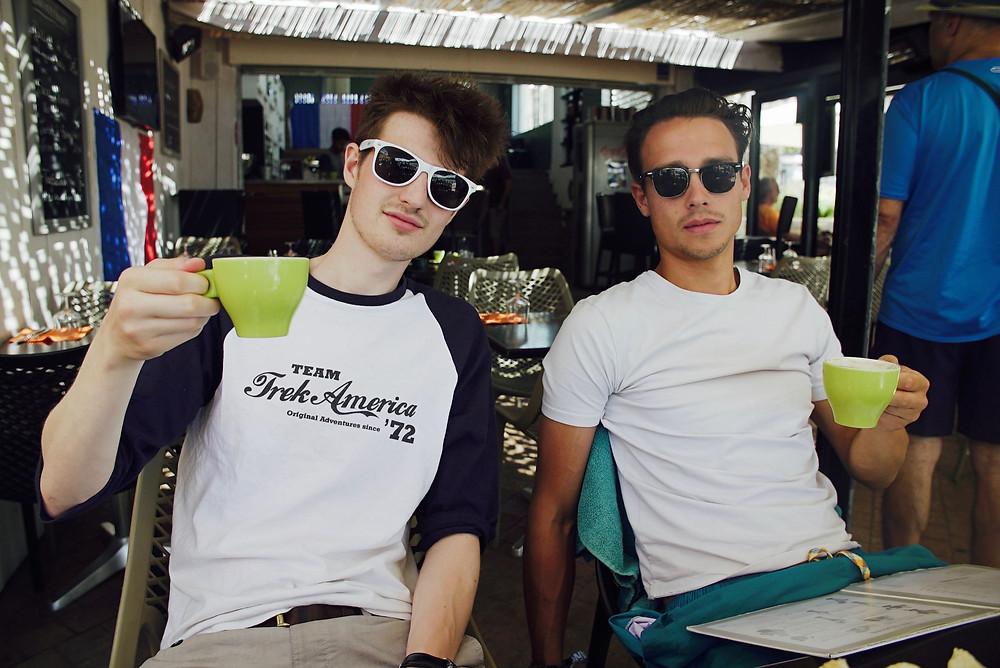 Filmmakers having Coffee