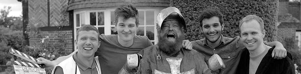 Brian Blessed on the Set of the Short Film, Dragon