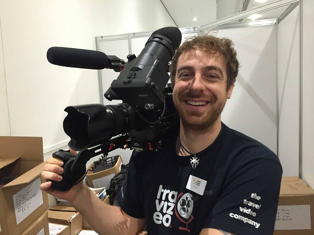 Toby with FS7 camera operator