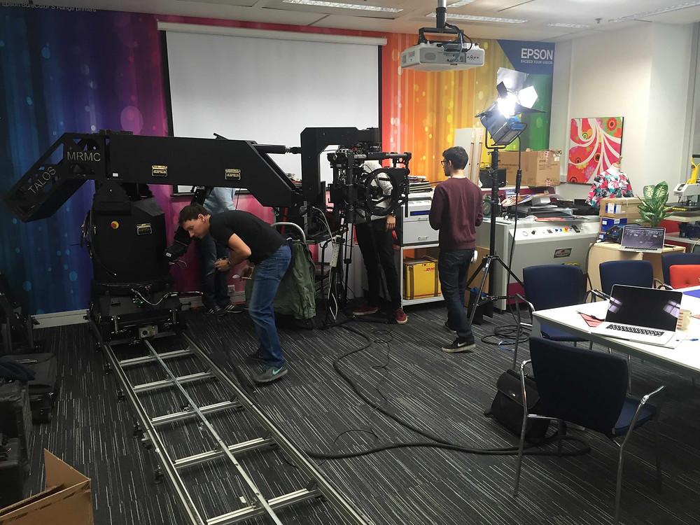 Big camera rig, serious video production
