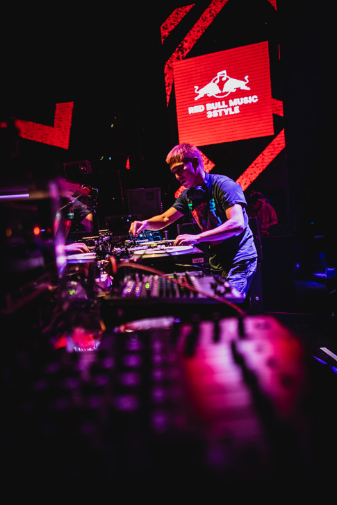 DJ Shintaro performs during the Red Bull 3Style in Taiwan
