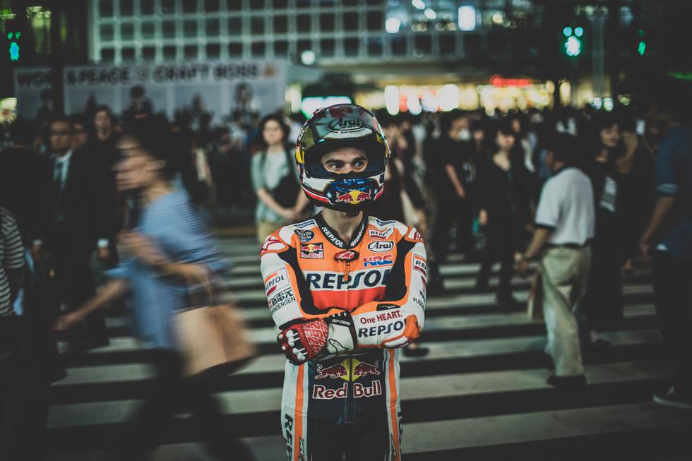 Dani Pedrosa in Shibuya, Tokyo