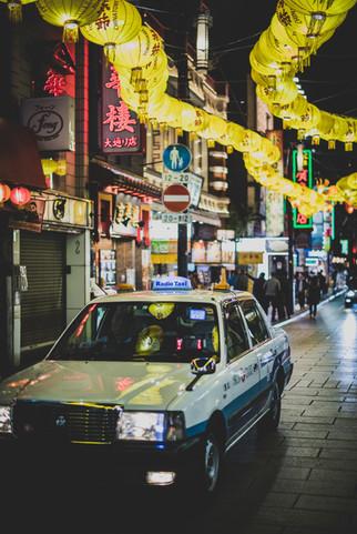Taxi in Yokohama Chinatown