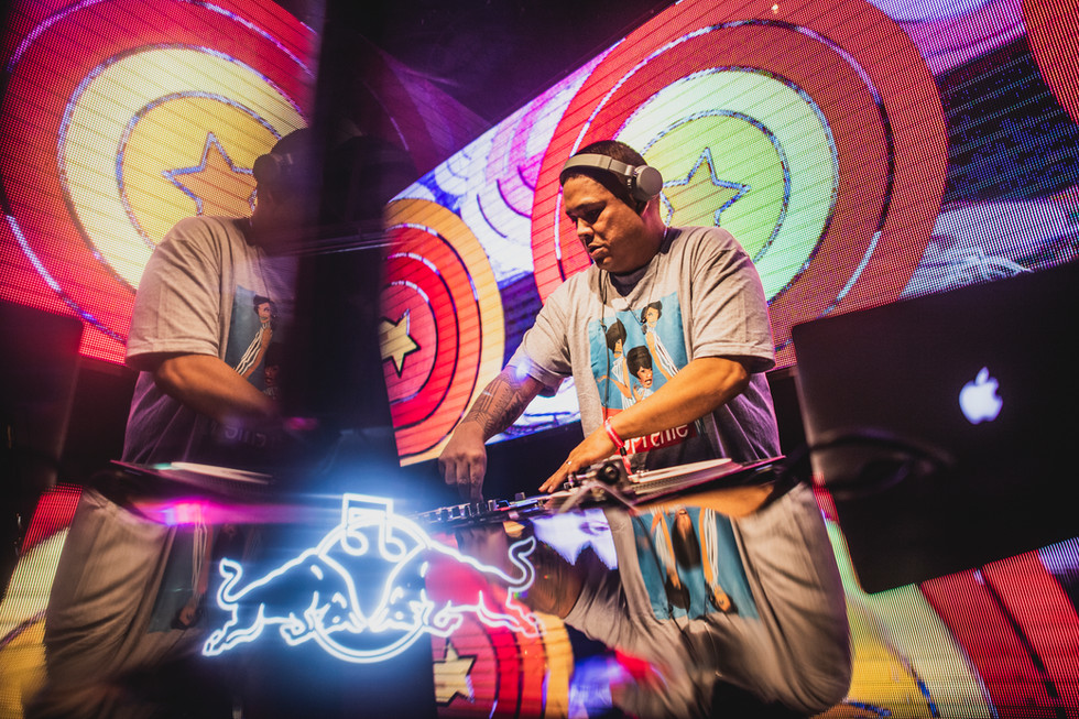 DJ Hedspin performs during the Red Bull 3Style in Taiwan