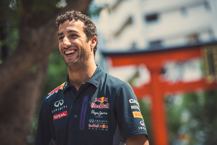 Daniel Joseph Ricciardo in Tokyo, Japan