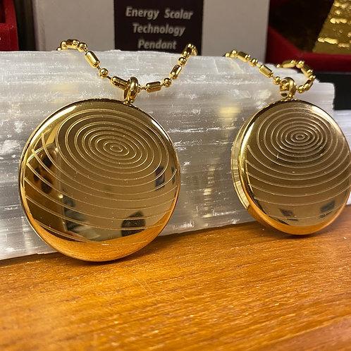 Decorative Metal Negative Ion producing Scalar Pendant