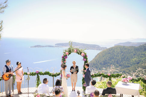 luxury wedding planner french riviera ceremony with sea view