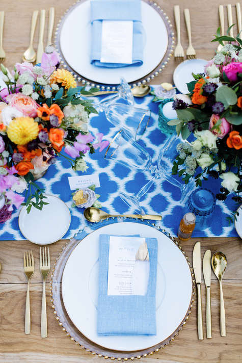 wedding planner france table colorful
