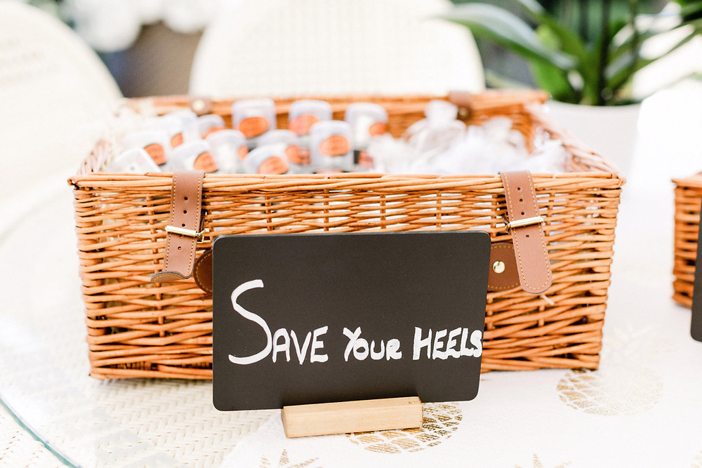 save your heels sign wedding