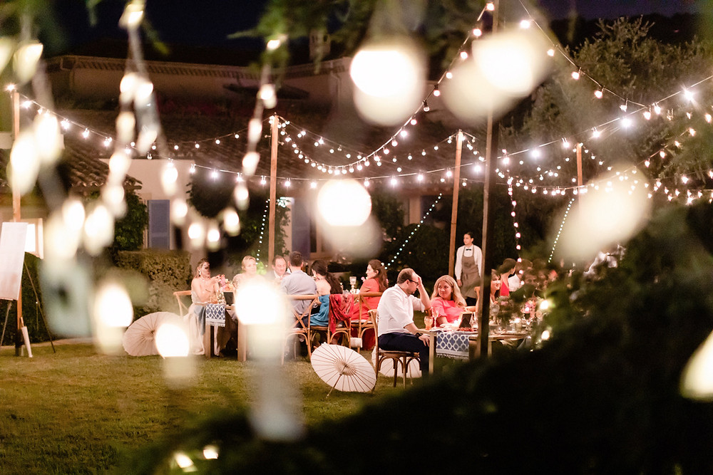 string lights wedding outdoor