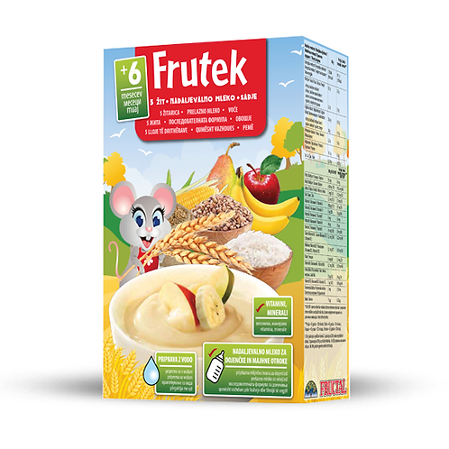 Frutek 5 CEREALS, FOLLOW-ON MILK, FRUIT Instant C.