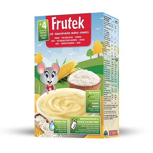 Frutek RICE, FOLLOW ON MILK, CORN Instant Cereals