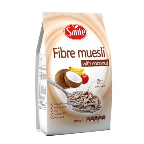 Sante FIBRE MUESLI WITH COCONUT 200G