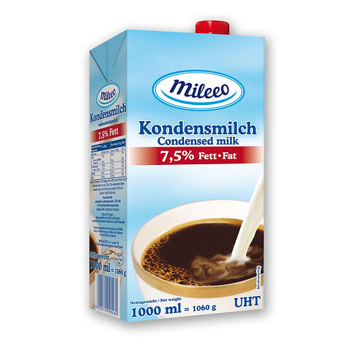 Mileeo UHT / LONGLIFE CONDENCED Milk 7.5% Fat/ 1L