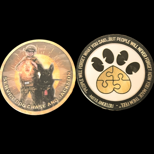 Heart of Gold Challenge Coin