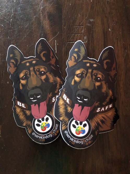 Service Dog Chase Two Sticker Pack